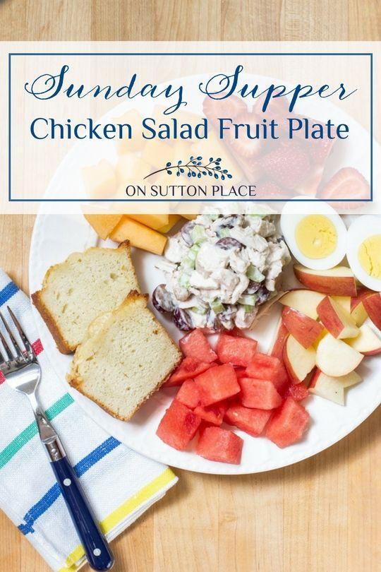 Chicken Salad Fruit Plate