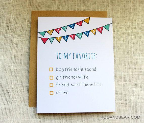 Funny Birthday Card Naughty Birthday Card Friend by RooandBear – Funny Cards for Friends Birthday