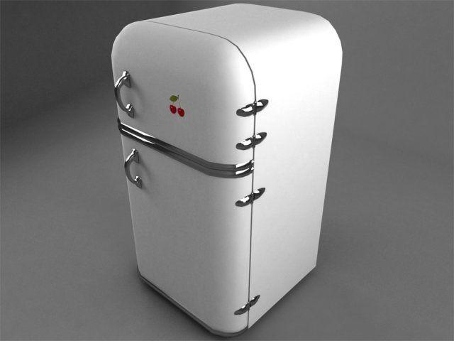 3D Model Old refrigerator c4d, obj, 3ds, fbx | 3D Furniture | Pinterest