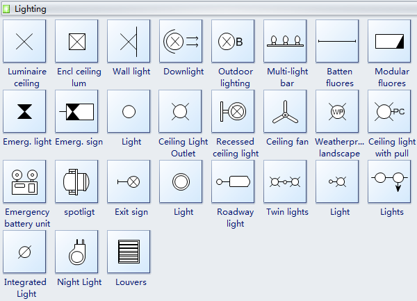 Reflected Ceiling Plan Symbols Lighting Ceiling Plan Blueprint Symbols Electrical Layout
