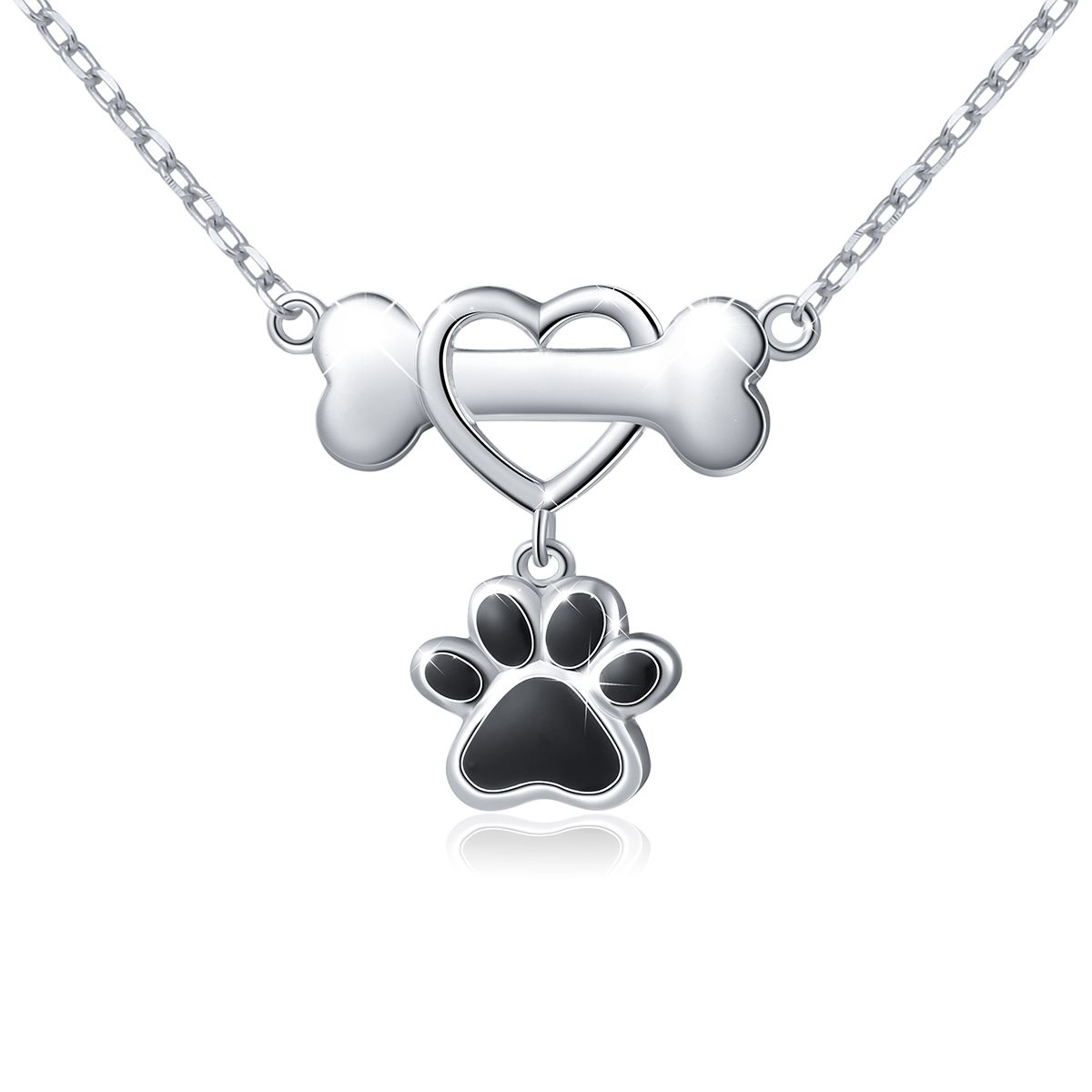 925 Sterling Silver Puppy Dog Paw Infinity Neckelaces Jewellery for Women Silver Pendant Necklace Gifts for Women Gift Packaging 3qIivQhku8