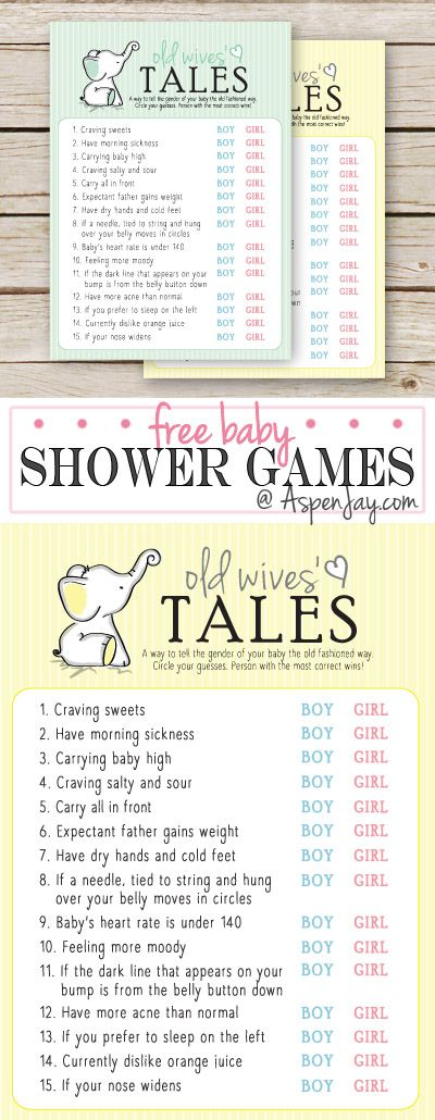 Free Printable Baby Shower Game   Old Wives Tales