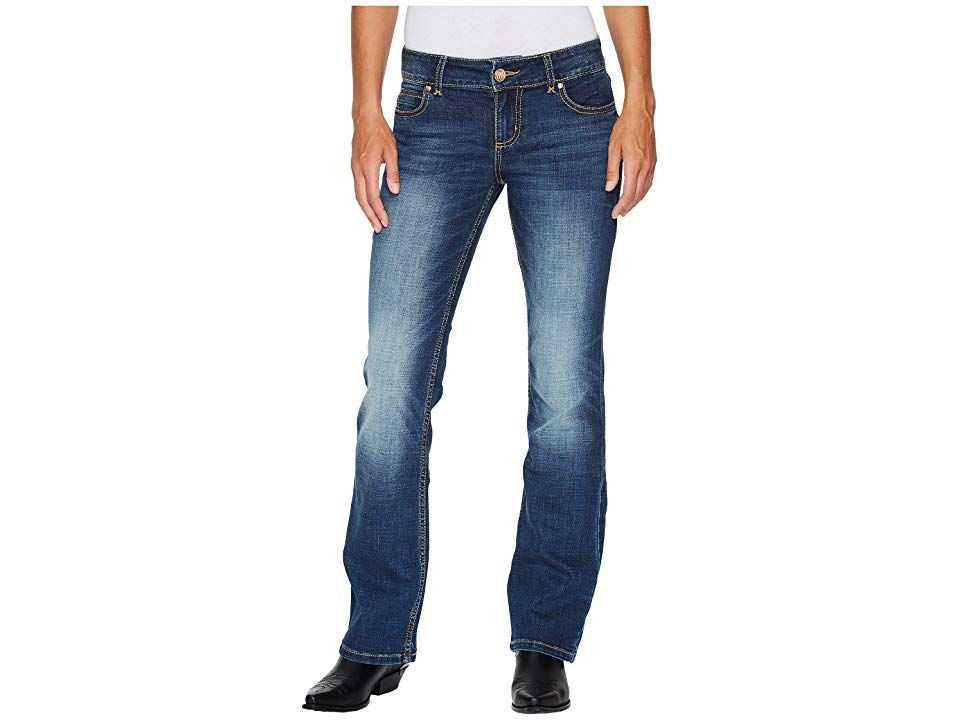 Wrangler Western Retro Bottoms Dark Blue Womens Clothing Add a little more momentum to your twostep with these flattering Wrangler Jeans Relaxed fit midrise pant is eased...
