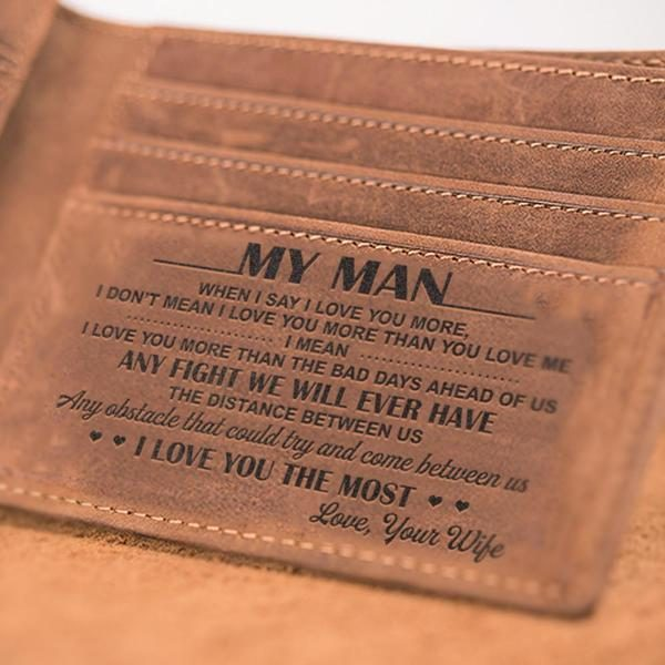 Leather Wallet For Your Man – Forever Love Gifts
