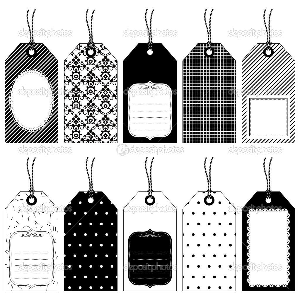 black and white gift tags - Google Search   Holidays ...