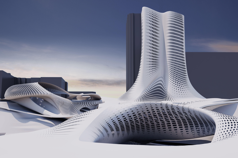 La now coastal urbanism diploma project roxy rahel for Parametric architecture zaha hadid