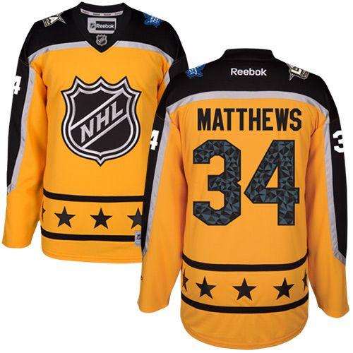 reputable site da7ad 5e9d0 Men's Maple Leafs #34 Auston Matthews Yellow 2017 All-Star ...
