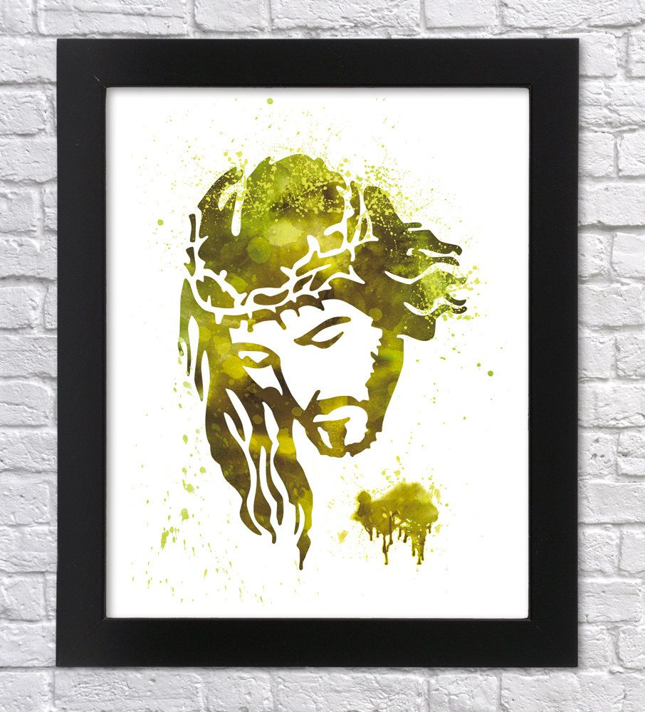 Jesus watercolor art, Jesus print, Christ Wall art, Christ Printable ...