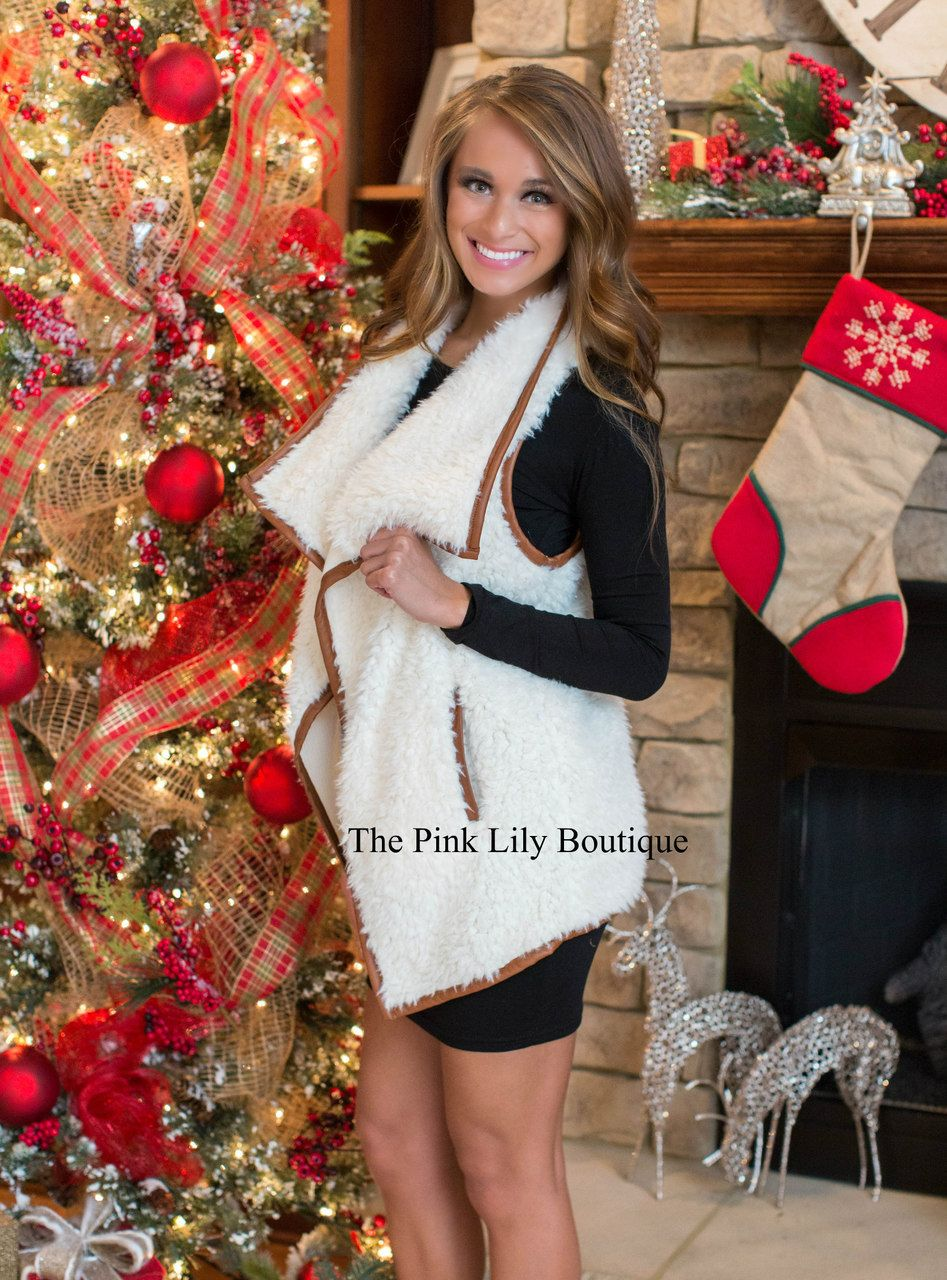 Fall Into Fur Vest - The Pink Lily Boutique