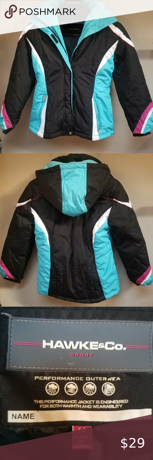 Hawke Co Sport Performance Outerwear Jacket Hawke Co Sport Performance Outerwear Full Zip Ho Leather Look Jackets Quilted Bomber Jacket Outerwear Jackets [ 1740 x 580 Pixel ]