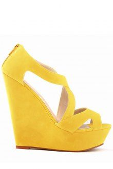 Wedge Heel Suede Hollow Out Design