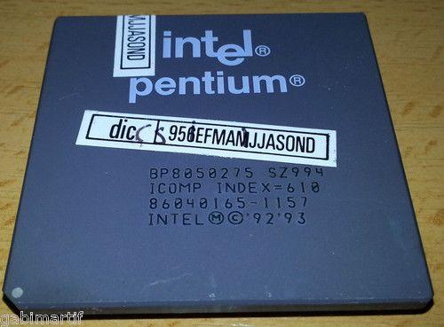 Microprocesador / Procesador / CPU SZ994 (Intel Pentium 75 MHz)
