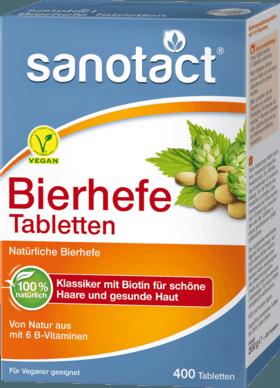 Die Sanotact Bierhefe Tabletten Sind Ein 100 Naturliches Produkt