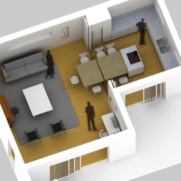 42+ Salon sejour cuisine 40m2 plan ideas in 2021