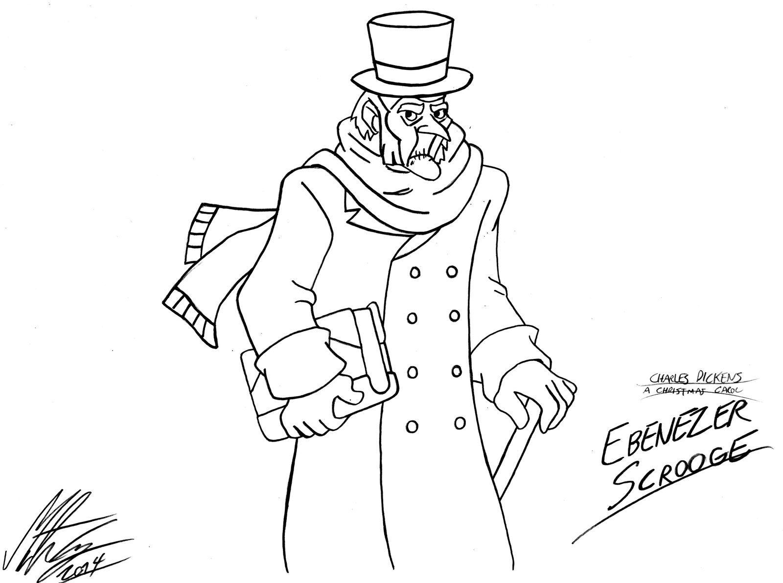 Coloring Ebenezer Pages Scrooge 2020 Scrooge Ebenezer