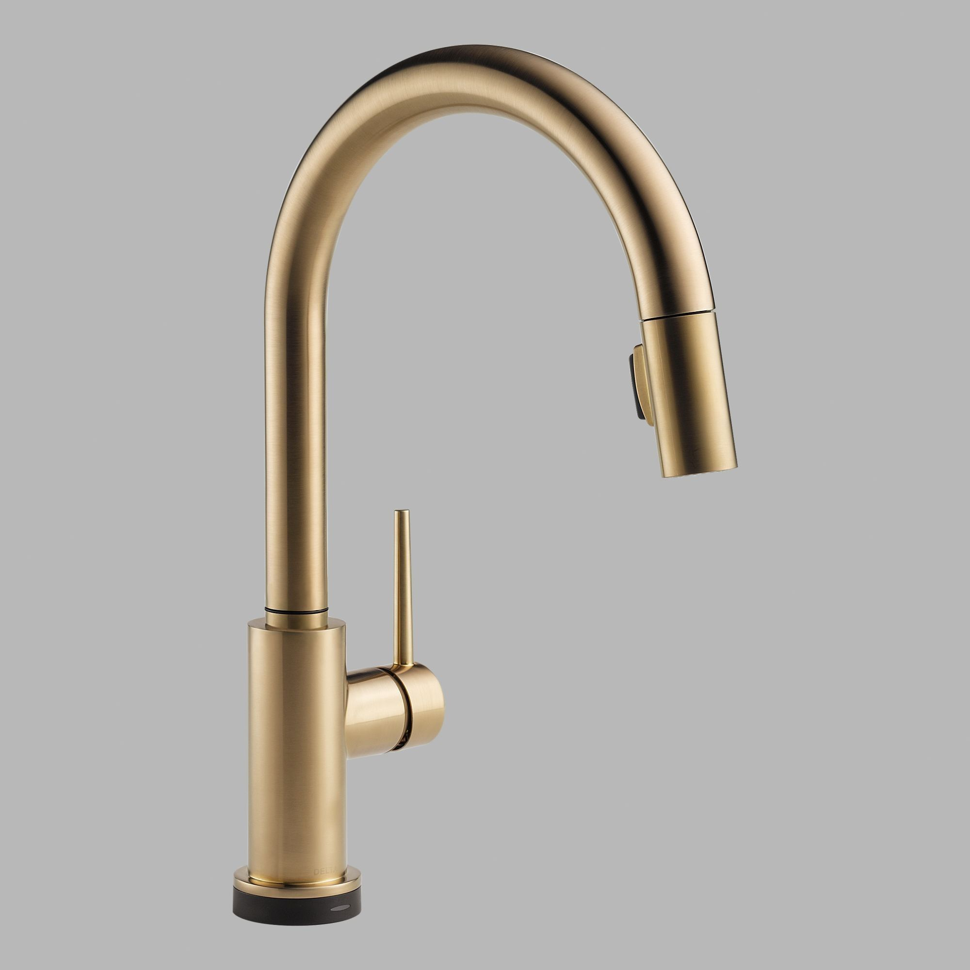 Trinsic Pull Down Single Handle Kitchen Faucet With Magnatite Docking And Diamond Seal Technology Brass Kitchen Faucet Brushed Brass Kitchen Faucet Gold Kitchen Faucet