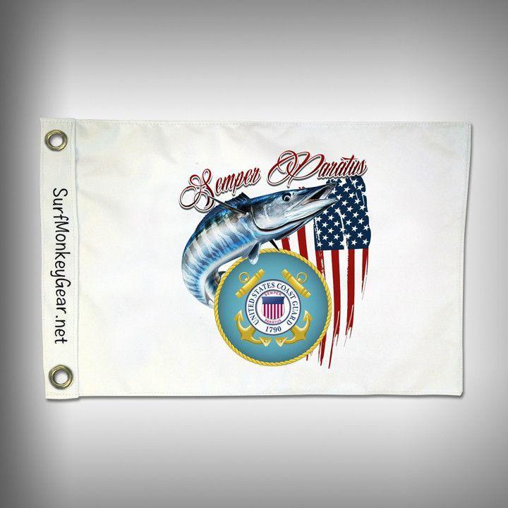 Custom Fishing Coast Guard Flag