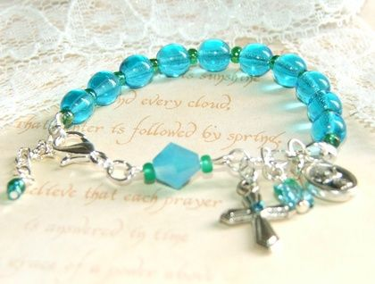 Baby's Rosary Bracelet, Baptism Flowergirl Wedding | Felt