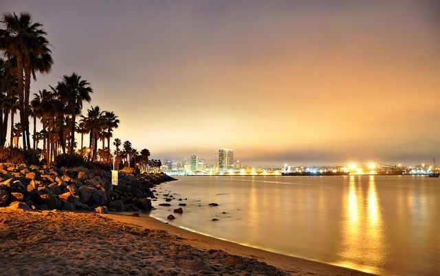 san diego beaches at night pictues my travel mission. Black Bedroom Furniture Sets. Home Design Ideas