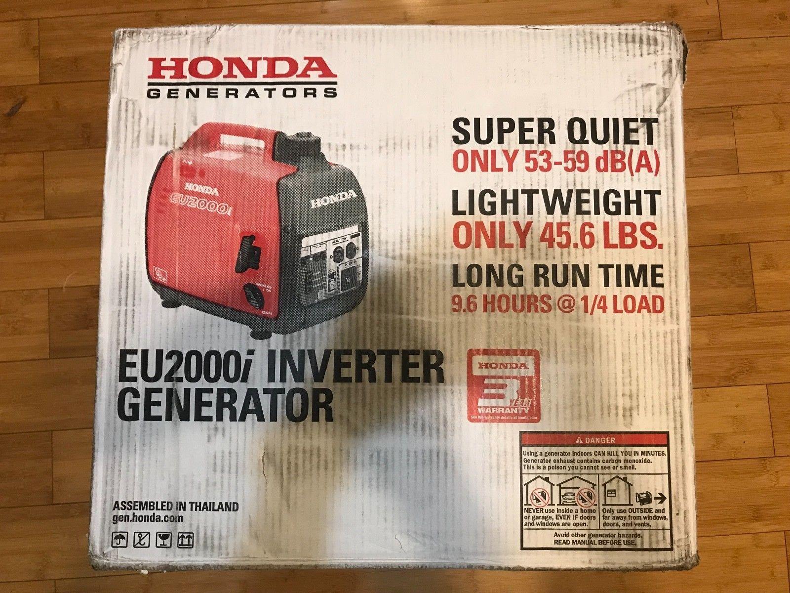 Super Quiet Honda EU2000i 2000 Watt Lightweight Portable Generator