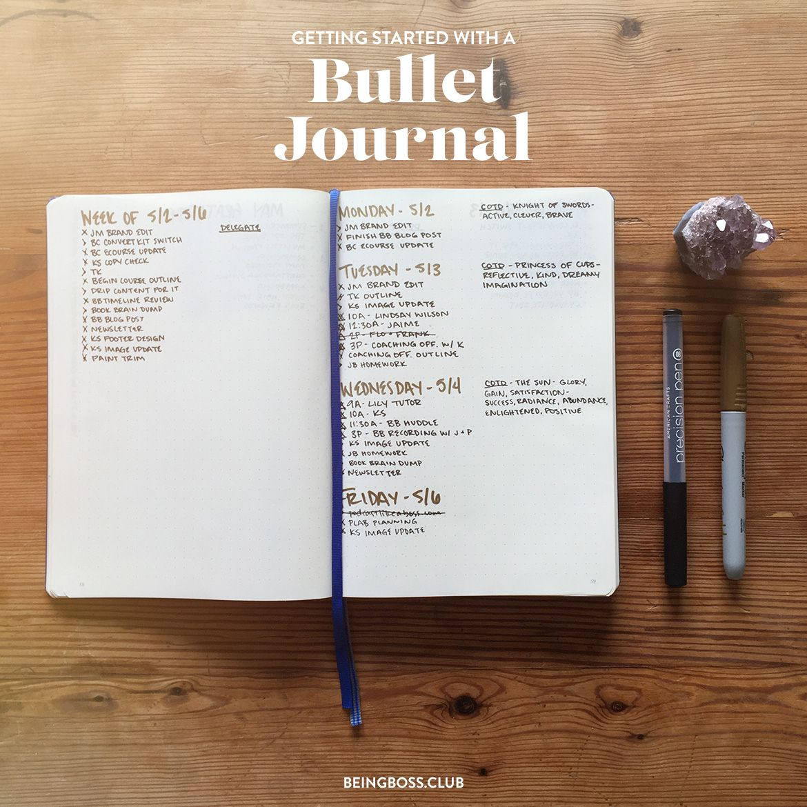 Getting Started With A Bullet Journal For Business Owners