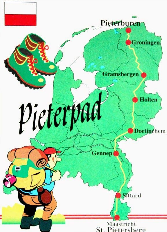 Long distance walking route in the Netherlands Pieterpad