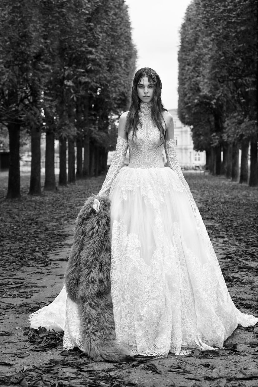 Maude vera wang fall bridal collection light ivory long