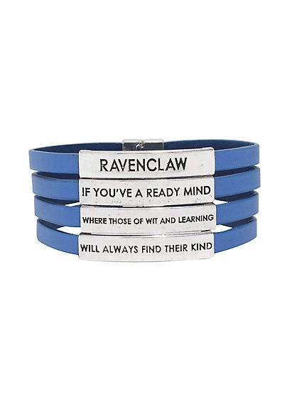 Harry Potter Ravenclaw Sorting Hat Wrap BraceletHarry Potter Ravenclaw Sorting Hat Wrap Bracelet,