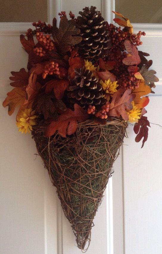 Fall Teardrop Wreath on Etsy, $35.00