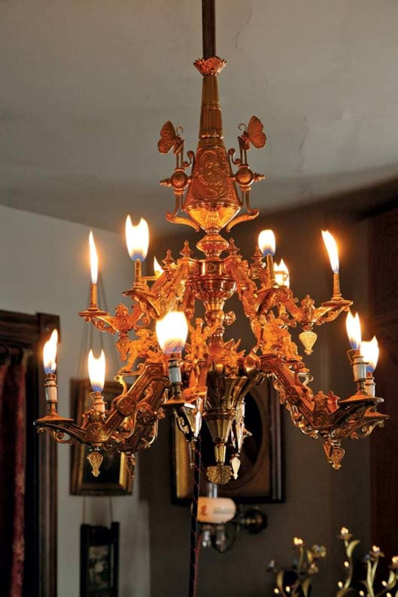 Tips for restoring gas lighting antique lighting and lights an ornate gilded bronze gas chandelier has been restored to its original glory complete arubaitofo Images