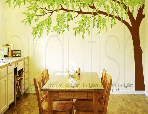 Tree Wall Decals - Cherry Blossom Tree Decal, Nursery Wall Sticker ...