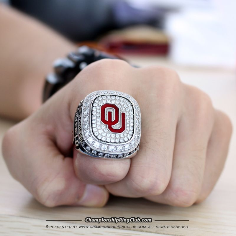 2015 Oklahoma Sooners Big 12 Championship Ring. Best gift from www.championshipringclub.com for  Sooners fans. You can custom your own  championship ring now.