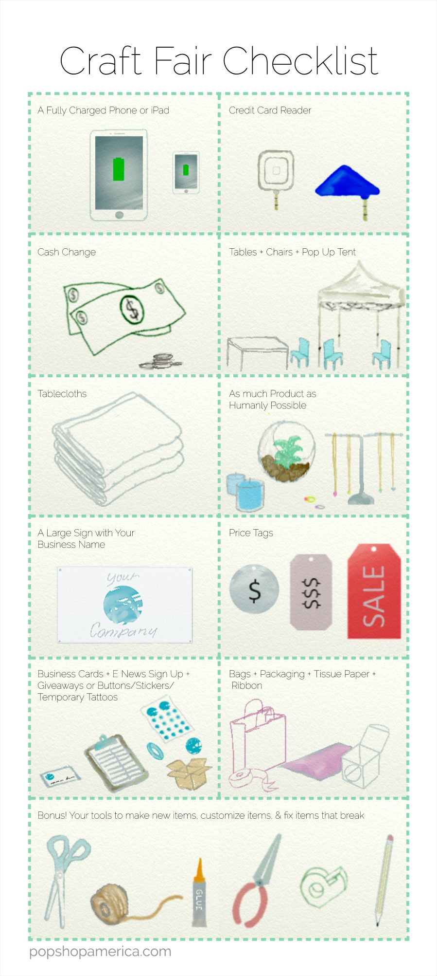 What To Bring To A Craft Fair Printable Checklist Selling Stuff