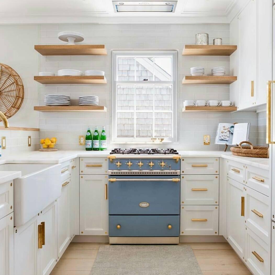 Perfectly Charming White And French Blue Kitchen Rustic Modern Kitchen Home Decor Kitchen Interior Design Kitchen