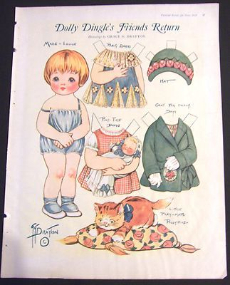Jun 1926 Paper Doll Dolly Dingle's Friends Return