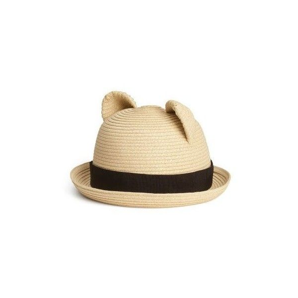 Straw Hat $9.95 ❤ liked on Polyvore featuring accessories, hats, straw hat and band hats