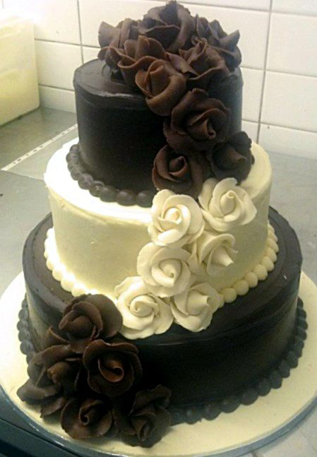 Two Tone Wedding Cake