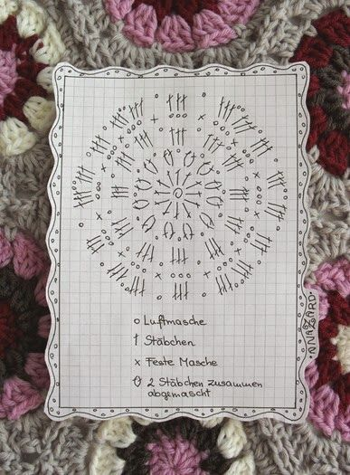 free crochet chart for the 6-eck Granny - Hexagon-Granny: | crochet ...