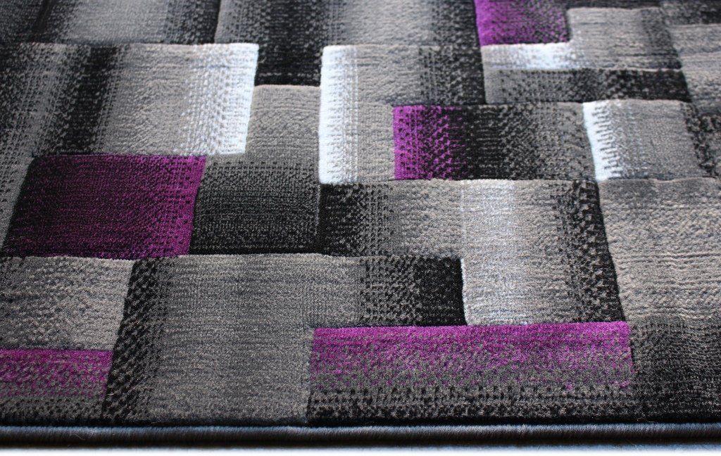 Masada Rugs Modern Contemporary Runner Area Rug Purple Grey Black 2 Feet X 7 Feet Check Out The Image By Vis Purple Area Rugs Area Rugs Modern Contemporary