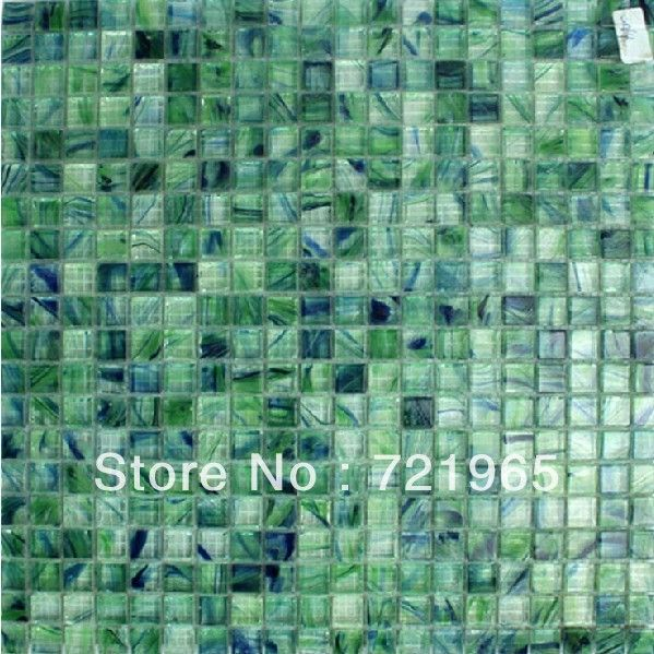 Blue And Green Stained Gl Mosaic Tile Backsplash Igmt037 Crystal Tiles Kitchen Wall Sticker