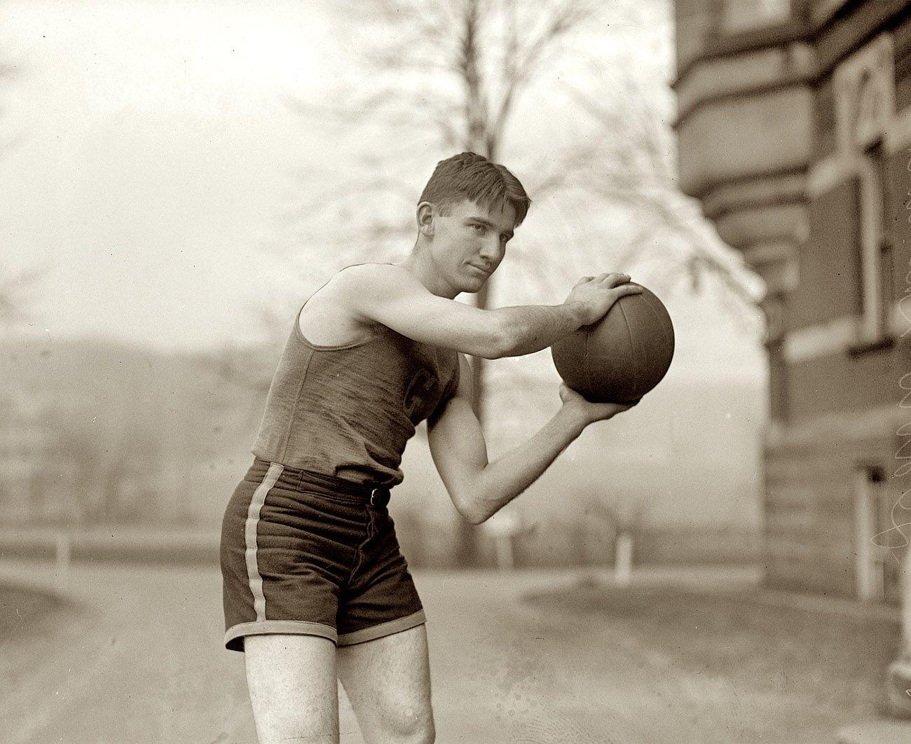 "Washington, D.C. ""Davis, Gallaudet, 1924."" Another Gallaudet University basketball player."