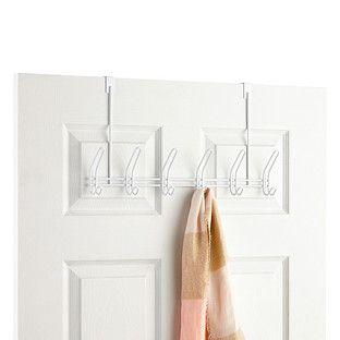 Exceptionnel White Overdoor 6 Hook Rack    For Office Door, Bathroom Door, Coat Closet  Door, Bedroom Door, Front Door? Back Door?