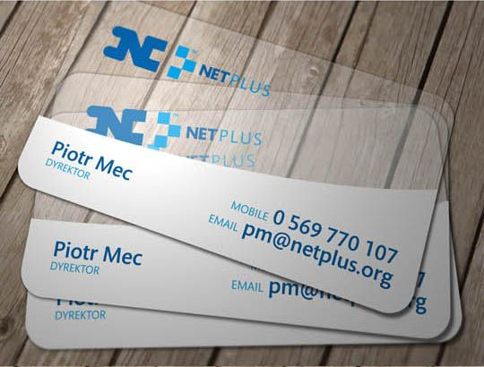 24transparent and waterproof business cards - Waterproof Business Cards