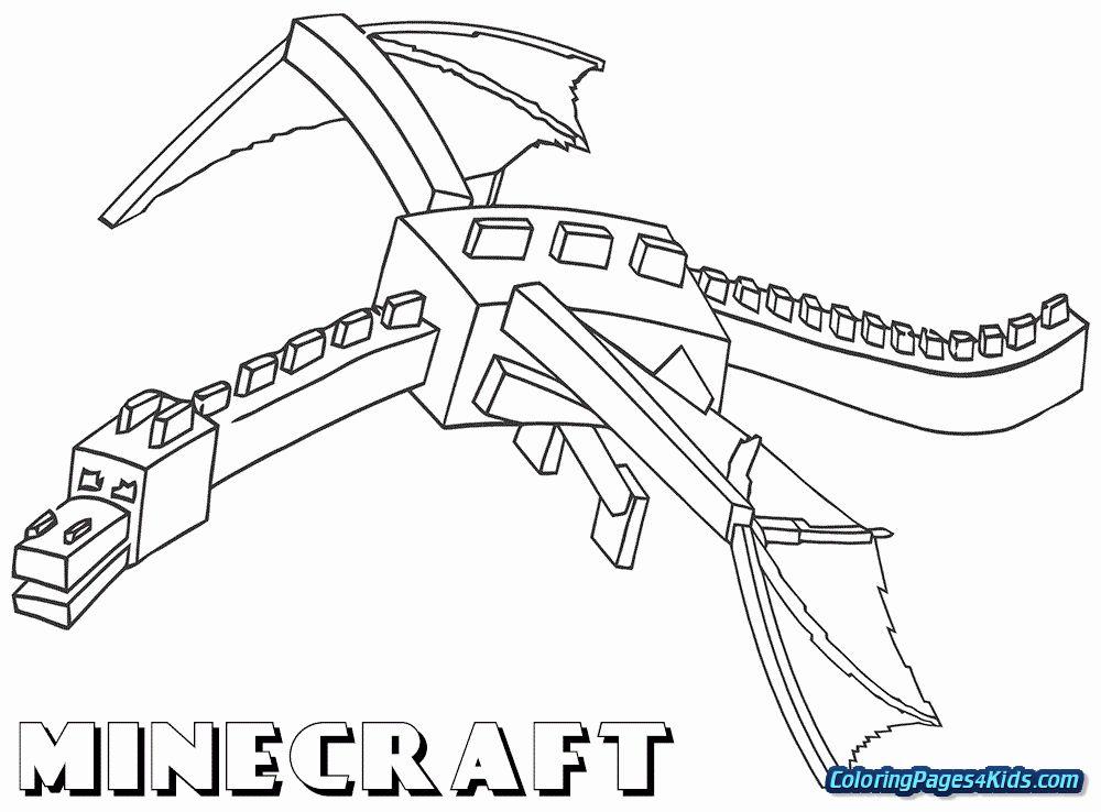 Ender Dragon Coloring Page Unique Crafty Inspiration Ideas