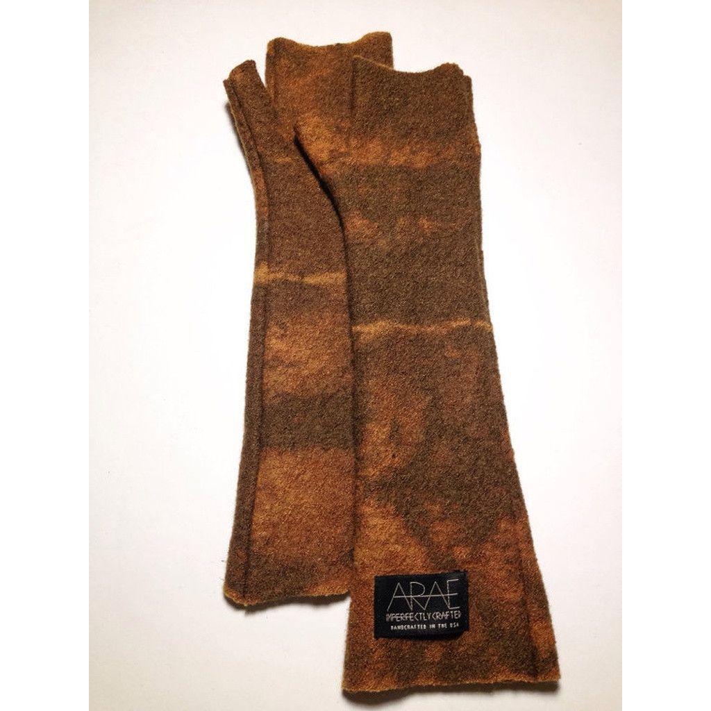 Desert Wool Long Fingerless Gloves