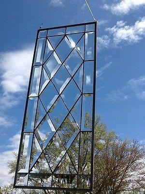 Stained glass transom window panel totally beveled ten diamonds to glass ebay planetlyrics Choice Image