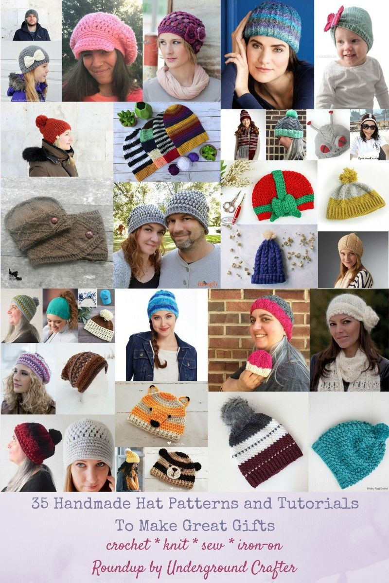 936f2a8f640 35  Handmade Hat Patterns and Tutorials to Make Great Gifts via Underground  Crafter