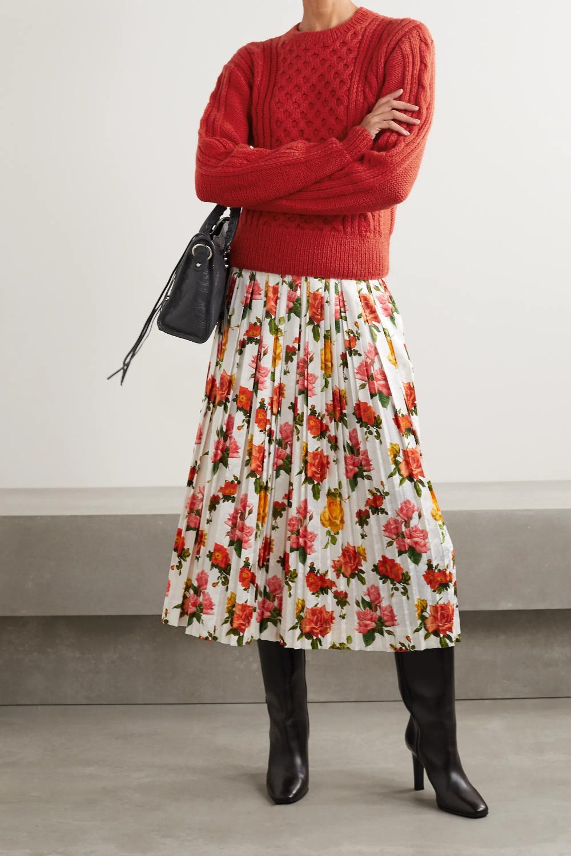 Cable-knit alpaca sweater