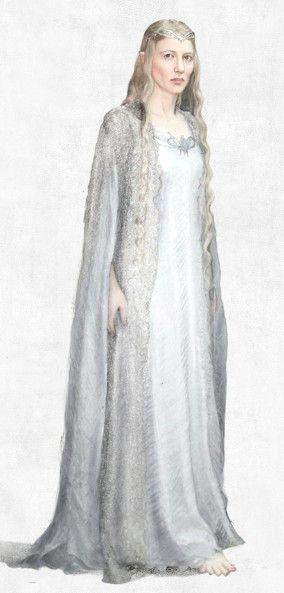Galadriel Dol Guldur Costume by Ann Maskrey. Inspiration for Queen ...