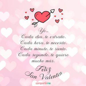 Tarjetas De San Valentín Con Dedicatorias De Amor Para El